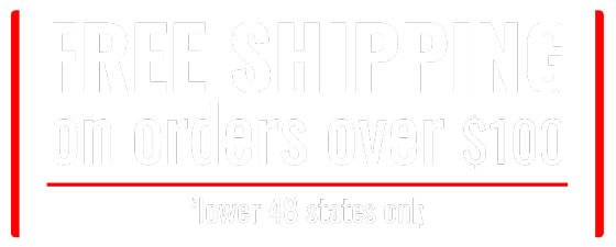 Free Shipping on orders over $100.
