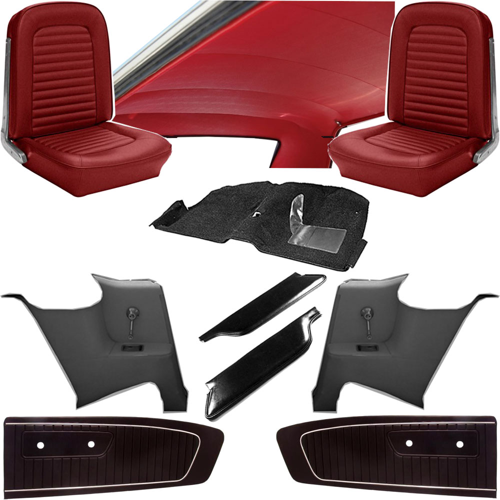 1964 mustang coupe standard interior kit classic car interior. Black Bedroom Furniture Sets. Home Design Ideas