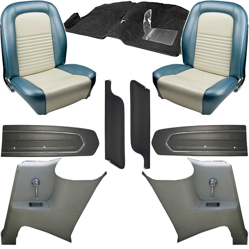 1967 mustang interior kits classic car interior. Black Bedroom Furniture Sets. Home Design Ideas