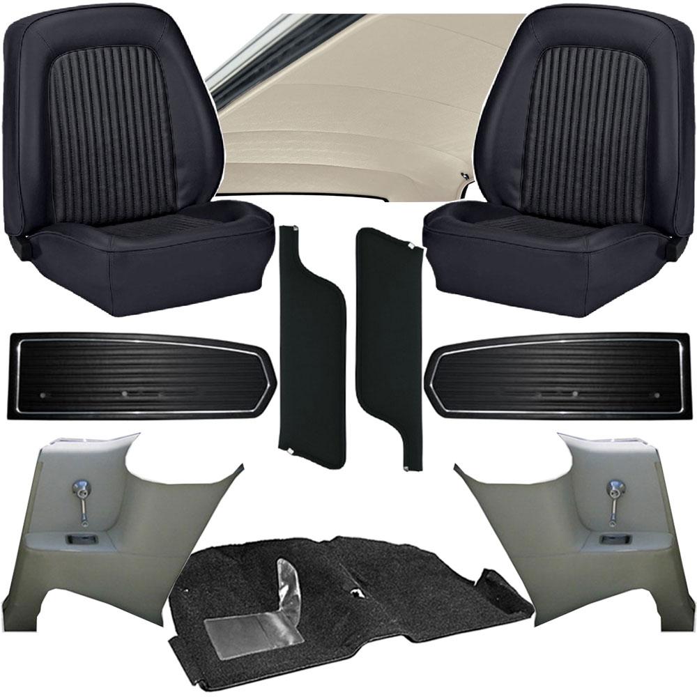 1968 mustang interior kits classic car interior. Black Bedroom Furniture Sets. Home Design Ideas