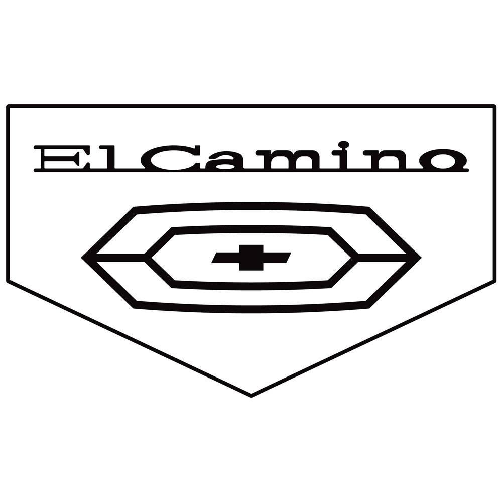 1970 El Camino Floormats Block Letters W Bowtie Emblem
