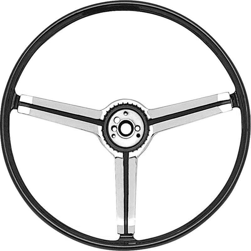 1967 Z87 Deluxe Steering Wheel With Spokes And Polished Chrome