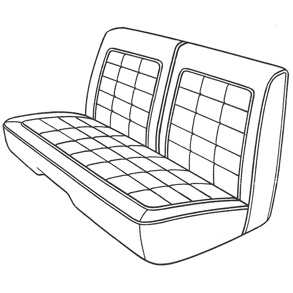 1968 plymouth satellite front split bench seat cover