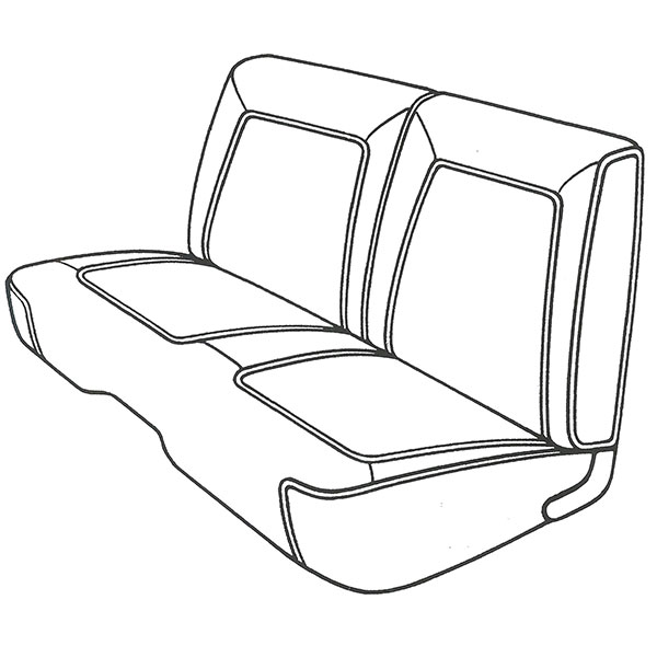 1968 plymouth belvedere  road runner front split bench seat