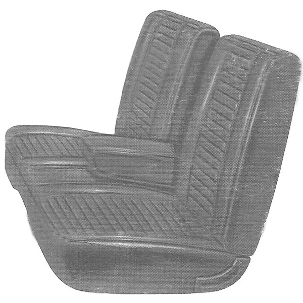 1969 Plymouth Barracuda Front Split Bench Seat Cover With