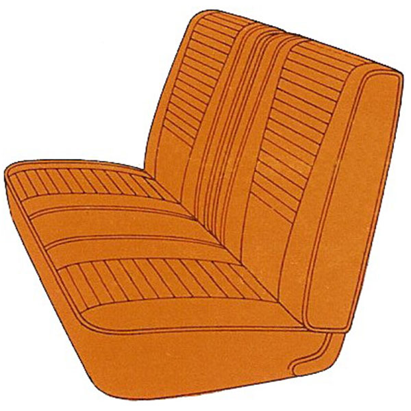 1969 Dodge Dart Gt Dart Gts Front Split Bench Seat Cover