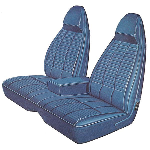 1970 Dodge Challenger Regal Front Split Bench Seat Cover