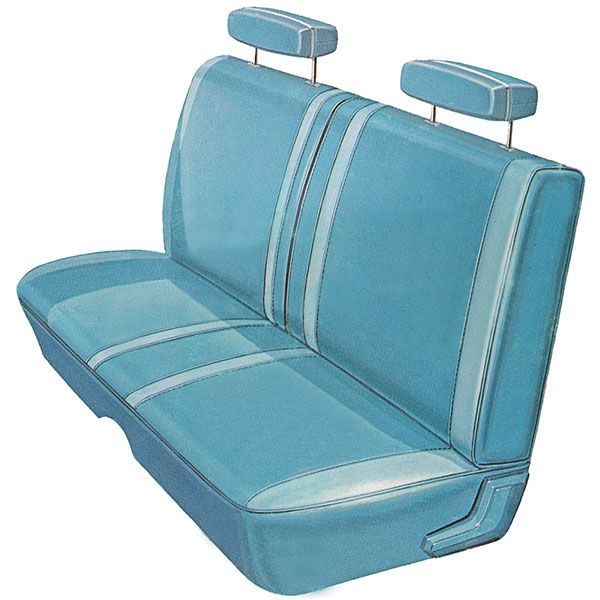 1970 Plymouth Belvedere Road Runner Front Split Bench Seat