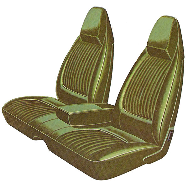 1971 Dodge Challenger Deluxe Front Split Bench Seat Cover