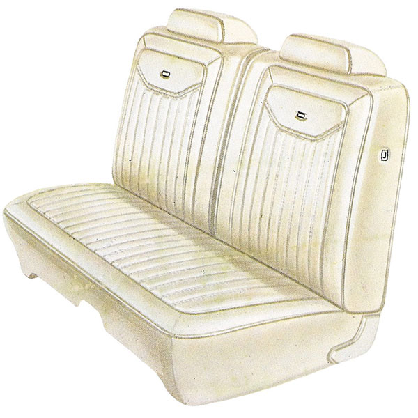1971 Dodge Charger Deluxe Front Split Bench Seat Cover