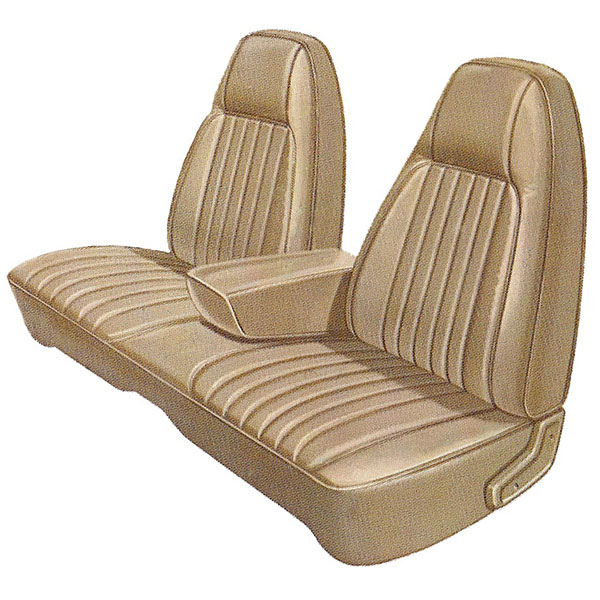 1974 Dodge Charger Se Front Split Bench Seat Cover With