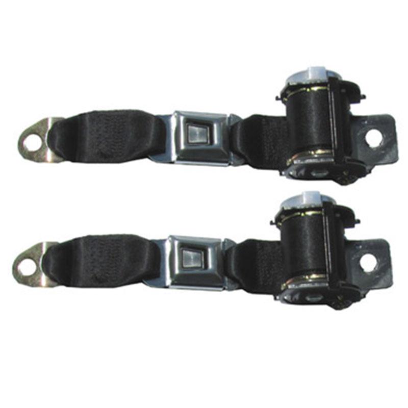 Black Seat Belts In Maroon Car